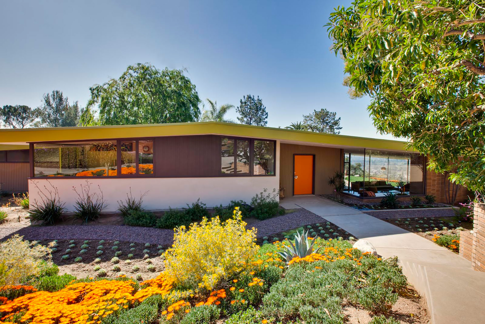 mid century modern homes paint colors